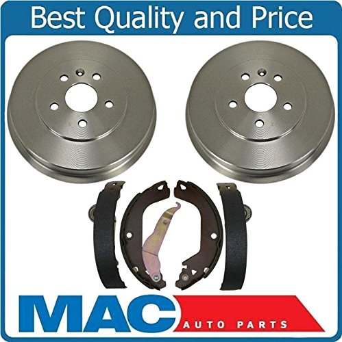 Limited New Rear Brakes Drums New Rear Drum Brake Shoes 3pc ()