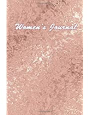 Women's Journal: 150 Lined Page, Notebook Diary Gift for Women to Write in, Journaling and More - Cute Rose Gold Cover