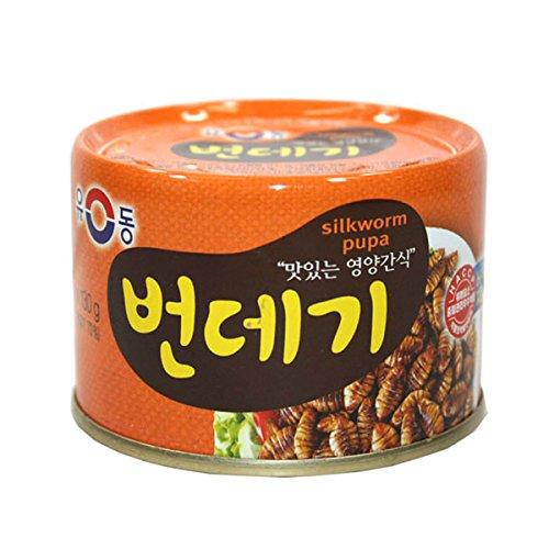 yoo-dong-korean-silkworm-pupa-can-130g-snack-food-pupae-for-soju-beer-ship-form-south-korea