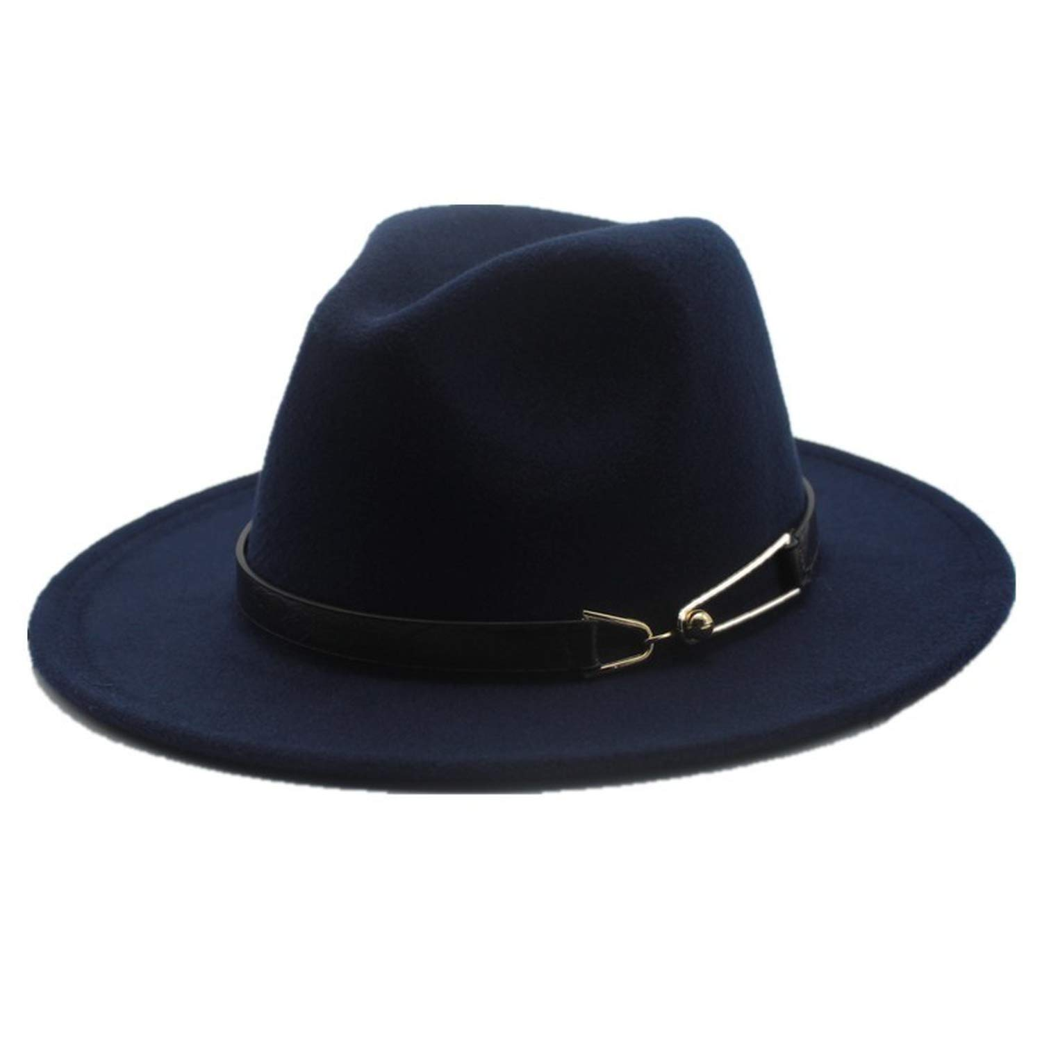b98d01dae04 Wide Brim Autumn Female Fashion Top hat Jazz Cap Winter Fedora Hat for Men  Wool Hat at Amazon Men s Clothing store