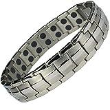 MPS-Titan-magnetische-Armband-fr-Mnner-mit-Klappschliee-2-Magnete-in-jedem-Link-Leistungsstarke-3000-Gau-Magneten-Mit-gratis-geschenk-beutel