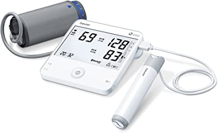 Beurer BM95 - Tensiómetro de brazo con función ECG, memoria 2 x 60 ...