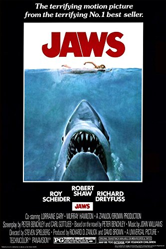 NMR 93098 Jaws Poster Decorative Poster (Horror Classics Poster)