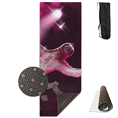 Funny Pole Dancing Stripper Sloth Yoga Mats Sports Mats Non Slip Carry Bag Storage Pockets For Hot Yoga And Pilates 71