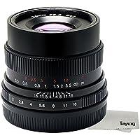 7artisans Manual Fixed lens 35mm/f2 Ten Blades for Fujifilm Fuji Cameras X-A1 X-A10 X-A2 X-A3 X-AT X-M1 XM2 X-T1 X-T10 X-T2 X-T20 X-Pro1 X-Pro2 X-E1 X-E2 X-E2s - (Black)