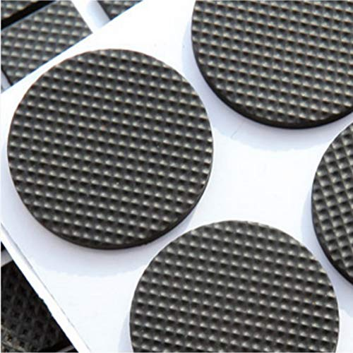 Round Square Shape Self Adhesive, Non-Slip Furniture Pads, Sofa Table Chair Sticky Floor Protector - Round by Sforza (Image #1)