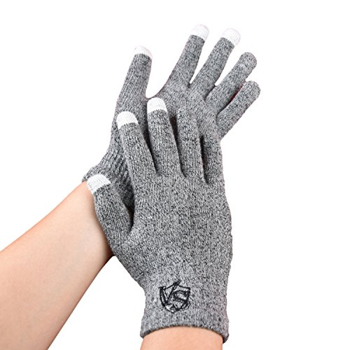 Price comparison product image Vital Salveo - Full Finger Recovery Touchscreen Gloves for IPhone, IPad, HTC more Phones and Tablets(Pair)-Medium