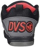 DVS Men's Comanche Shoe, Black Charcoal RED