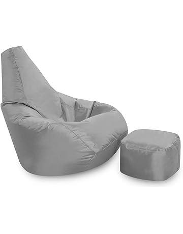 Bean Bag Bazaar High Back Chair and Footstool Combo aad48154a7057
