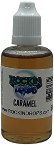 RockinDrops CARAMEL Food Flavoring Concentrate (50ml)- Natural Extract Flavoring Extract For Candy Flavoring, Cake Flavors, Flavorings For Baking, Lipgloss Flavors- Vegan-Keto Friendly