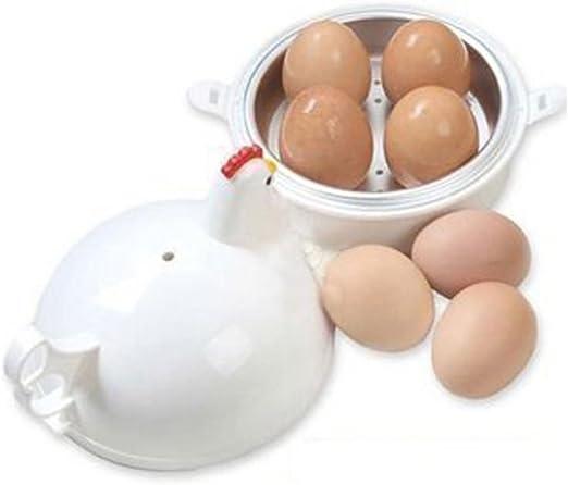 Microondas 4 huevos caldera Cocina Huevos, Woopower Electric Egg ...
