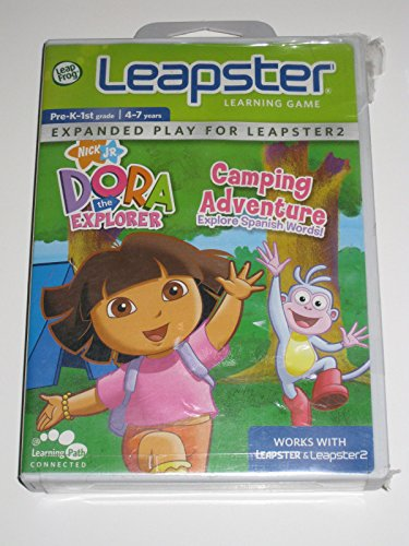Leapster & Leapster 2 Dora The Explorer Camping Adventures Learning Game NEW ()