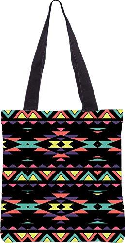 13 Shopping dunkel Einkaufstasche aus AZTEC gemacht 15 5 Zoll x Dienstprogramm digital Segeltuch Polyester Snoogg qtaPwvE8t