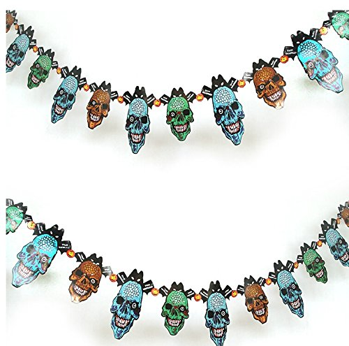 [Bar Ktv Decorative Props Scenes Decorate The Devil Halloween Supplies Paper Card Skeleton Flower,Paper Card Skeleton] (Devil Costums)