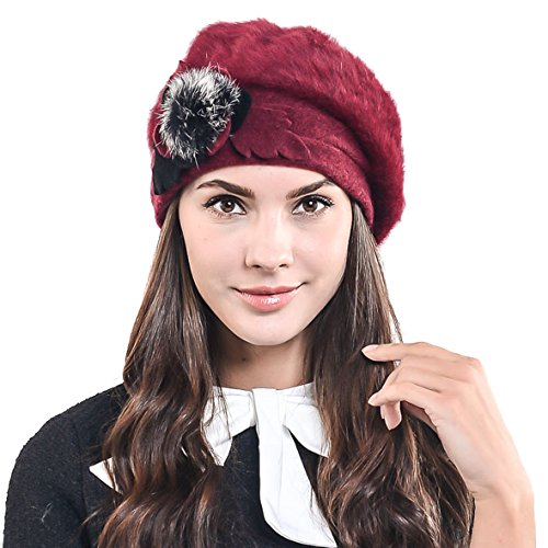 Jual F N STORY Lady French Beret Wool Beret Chic Beanie Winter Hat ... f03d088839cc
