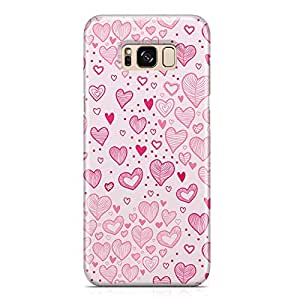 Samsung S8 Plus Case Pretty Heart love Pattern For Girls Valentine Sleek Profile Metal Inforced Light Weight Samsung S8 Plus Cover Wrap Around 149