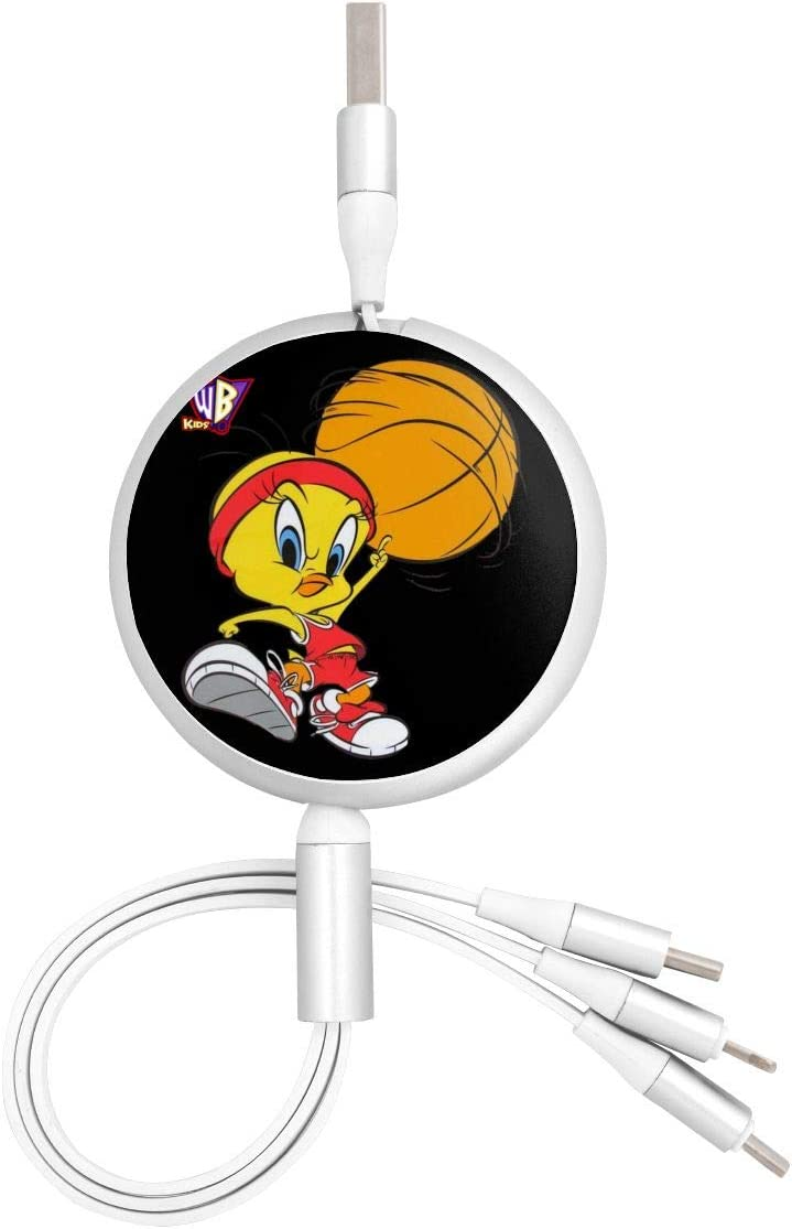 Looney Tunes Tweety Birdsuitable for Any Mobile Phone Three in One Data Line