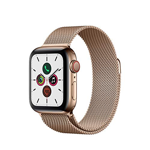 Apple Watch Series 5 (GPS + Cellular, 40mm) -   Stainless Steel Case with  Milanese Loop