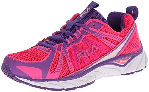 Fila Women's Threshold Running Shoe, Pink Glo/Electric Purple/White, 7.5 M US