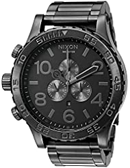 Nixon Mens 51-30 Chrono Quartz Stainless Steel Casual Watch, Color:Grey (Model: A083-632-00)