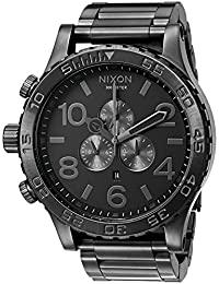 Men's '51-30 Chrono' Quartz Stainless Steel Casual Watch, Color:Grey (Model: A083-632-00)