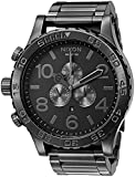 Nixon Men's '51-30 Chrono' Quartz Stainless Steel Watch, Color:Grey (Model: A083-632-00)