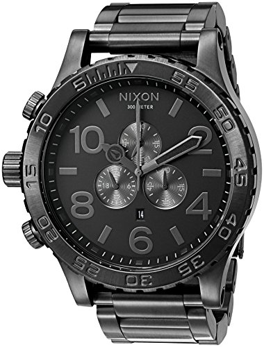 Nixon Men's '51-30 Chrono' Quartz Stainless Steel Casual Watch, Color:Grey (Model: A083-632-00) (Chrono Watch Single)