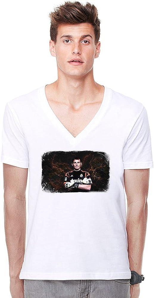 Portrait Iker Casillas V-cuello profundo de la camiseta ...