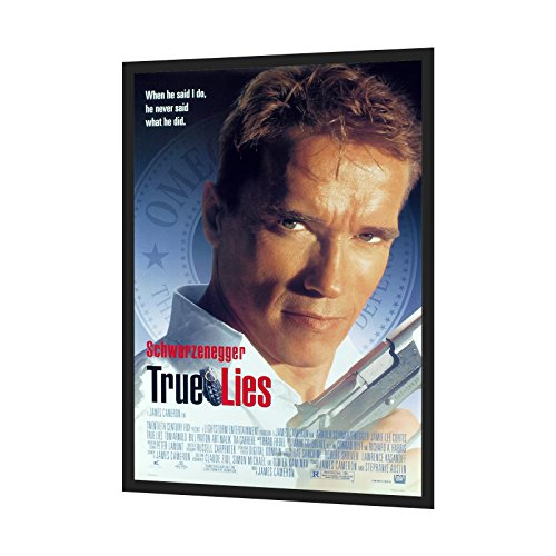 Black Movie Poster Frame 27x41 Inches, 1.25' SnapeZo Profile, Front Loading Snap Display, Wall Mount, Professional Series
