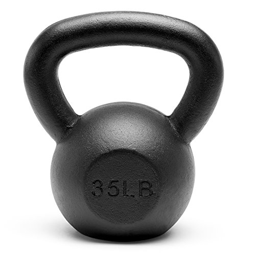 Unipack Premium Powder Coated Solid Cast Iron Kettlebell Weights 5, 10, 15, 20, 25, 30, 35, 40, 45 lbs