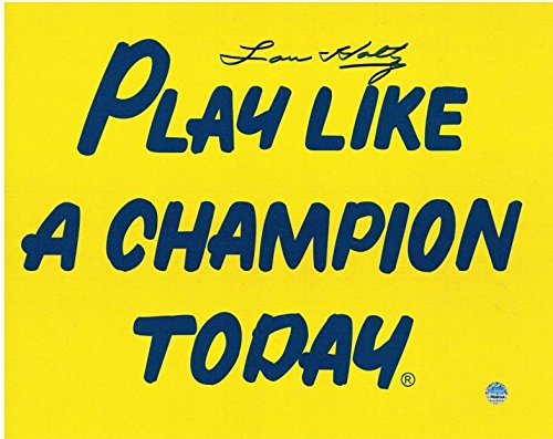 Signed Lou Holtz Picture - 8x10 Play Like A Champion Today - Steiner Sports Certified - Autographed College Photos -