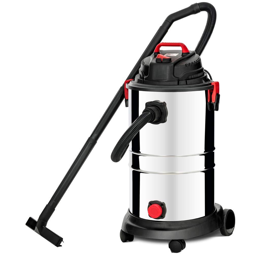KUPPET Wet/Dry Vacuum Cleaner, 13 Gallon, 4 Horsepower, Stainless Steel Tank