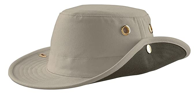 4d1b4b3a Image Unavailable. Image not available for. Colour: Tilley Unisex T3 Cotton  Duck Snap-up Brim Hat ...