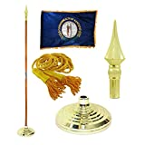 Kentucky 3ft x 5ft Flag, Flagpole, Base, and Tassel (Plastic Spear, 7 Ft Oak Pole)