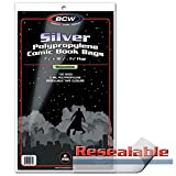 BCW-SIL-R - Silver Age Size Comic Outer Sleeves - Resealable + BCW-BBSIL - Silver Age Size Backing Boards - (1000 of Each)