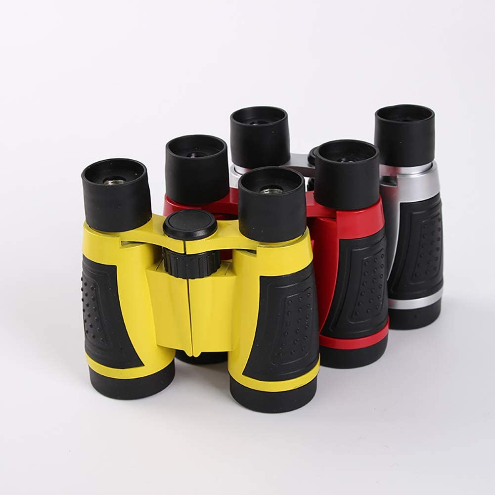 LCY Portable Telescope Childrens Toy Telescope Outdoor Binoculars 5 /× 30 Zoom Telescope Childrens Outdoor Toys Silver Red Yellow Optional
