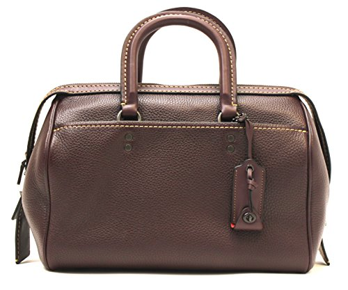 Coach Glove Tanned Pebbled Rogue Satchel 1941 Collection (Oxblood)