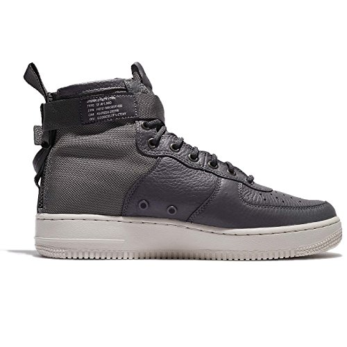 Nike Mens Sf Af1 Mid, Dark Grey / Dark Grey-light Bone, 7 M Us