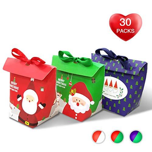 Christmas Candy Boxes,Small 3D Christmas Holiday Gift Box Se