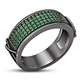 TVS-JEWELS Women's Ring 925 Sterling Silver Luxury Unique Wedding Band Ring (11)