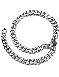 Cuban Link Chain Xxxtentacion Adjustable Choker with Tail Hip Hop Miami 15mm Big Stainless Steel Curb Rapper Necklace for Men