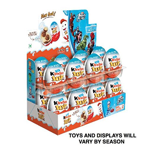 Kinder Display With 16 Units     Kinder Joy With Surprise Inside   Sold By Icstore  Boys Display W  16