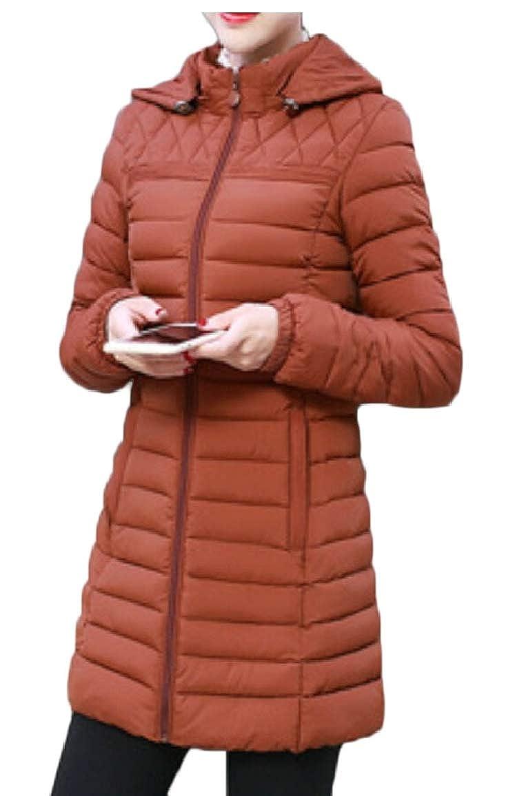 2 Qiangjinjiu Women's Hooded Quilted Lightweight Winter Puffer Jacket Coat