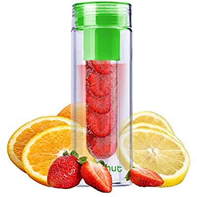 REEHUT Fruit Infuser Water Bottle 25 oz - Fresh Fusion Leak Proof Sport Water Bottles with Fruit Infuser for Fitness, Yoga or at The Gym from Reehut