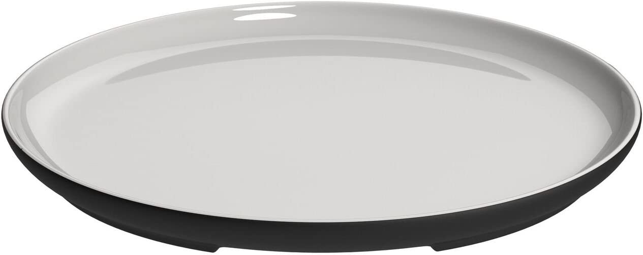 Magisso White Line Naturally Cooling Ceramic Round Serving Plate - 10.5 Inch #70656