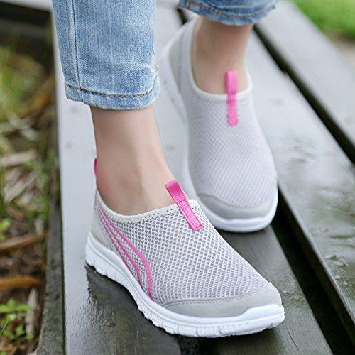 Annabelz Damesschoenen Casual Looprennen Sneakers Grijs