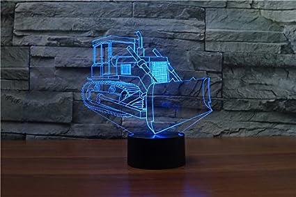 L/ámpara 3D L/ámpara de noche LED Mesa t/áctil L/ámpara de Oso amor 7 Colores 3D L/ámpara de ilusi/ón /óptica Luces de San Valent/ín