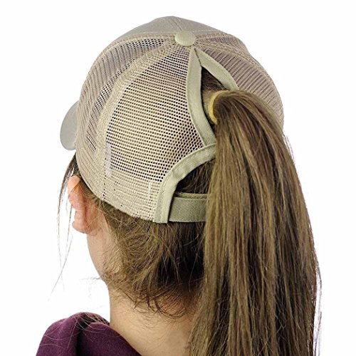 BCDshop Women Men Fashion Adjustable Baseball Cap Snapback Mesh Trucker Cap Shade (Khaki Shade)