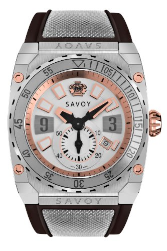 Savoy Icon Extreme - 3 Hand - Stainless Steel Rotating Bezel - Black Strap - Men's Watch