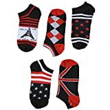 "SUSocks Mens Socks ""5 Pairs"" Liner Crew Socks Low Cut Cotton Best Sports"